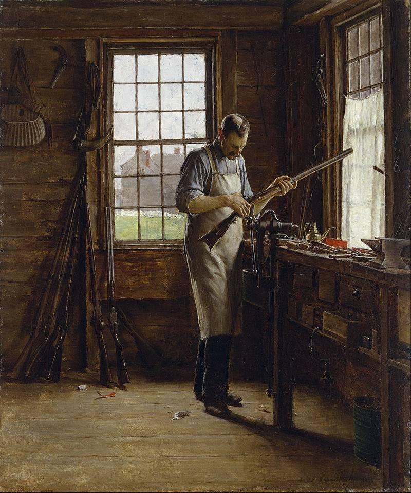 Edgar_Melville_Ward_-_The_Gunsmith_Shop_-_Google_Art_Project